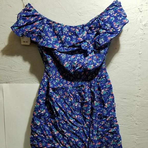 796833f0c82e Delias Blue Floral Romper. NWT. dELiA s